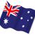 australiano · bandeira · isolado · branco · fundo - foto stock © bigalbaloo