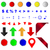 несколько · Кнопки · изолированный · белый · многие · красочный - Сток-фото © bigalbaloo