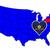 Пенсильвания · США · флаг · Соединенные · Штаты · Америки · карта - Сток-фото © bigalbaloo