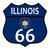 route · 66 · Illinois · trafik · işareti · beyaz · ad · yol - stok fotoğraf © bigalbaloo