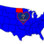 Észak-Dakota · zászló · térkép · izolált · fehér · USA - stock fotó © bigalbaloo