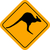 kangaroo sign stock photo © bigalbaloo