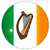 irish flag with harp button stock photo © bigalbaloo