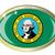 washington state flag oval button stock photo © bigalbaloo