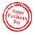 Happy Fathers Day Rubber Stamp stock photo © Bigalbaloo