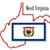 zászló · Nyugat-Virginia · számítógép · generált · illusztráció · selymes - stock fotó © bigalbaloo