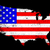 USA Outline and Flag stock photo © Bigalbaloo