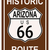 Arizona · historisch · route · 66 · verkeersbord · legende · route - stockfoto © Bigalbaloo