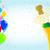 résumé · rouge · confettis · texture · fond · bleu - photo stock © bigalbaloo