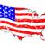 usa grunge flag map stock photo © bigalbaloo