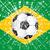 Гранж · футбола · флаг · Бразилия · 3d · иллюстрации · дизайна - Сток-фото © bigalbaloo