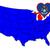 Мичиган · карта · изолированный · белый · США · Америки - Сток-фото © bigalbaloo