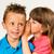 irmã · segredo · irmão · jovem · isolado - foto stock © bigandt