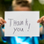 boy with thank you sign stock photo © bigandt