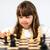 ninos · jugando · juego · piezas · dedos · sonriendo · nina - foto stock © bigandt