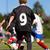 oynayan · çocuklar · futbol · açık · havada · çim · futbol - stok fotoğraf © bigandt