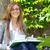 mooie · vrouwelijke · student · studeren · outdoor - stockfoto © bigjohn36