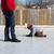 отец · преподавания · сын · льда · Skate · Открытый - Сток-фото © bigjohn36