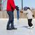 отец · преподавания · дочь · льда · Skate · Открытый - Сток-фото © bigjohn36