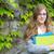 schoolmeisje · boeken · campus · meisje · school · vrouw - stockfoto © bigjohn36