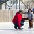 семьи · катание · Открытый · зима - Сток-фото © bigjohn36