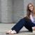 jonge · vrouw · lezing · tijdschrift · smart · jonge · vrouw - stockfoto © bigjohn36