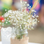 çiçekler · mason · kavanoz · halat · dantel · açık · havada - stok fotoğraf © BigKnell