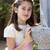 młoda · dziewczyna · uśmiechnięty · pierwsza · komunia · pierwszy · święty - zdjęcia stock © BigKnell