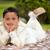 młodych · pierwsza · komunia · chłopca · koc · trawy · młody · chłopak - zdjęcia stock © BigKnell