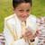 młodych · pierwsza · komunia · chłopca · uśmiechnięty · modlitwy · książki - zdjęcia stock © BigKnell
