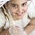 Young girl with umbrella in her First Communion stock photo © BigKnell