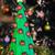 feito · à · mão · papel · árvore · de · natal · chocolate · real · árvore - foto stock © BigKnell