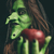 Evil witch holding a red apple stock photo © BigKnell
