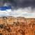 rainy storm hoodoos bryce point bryce canyon national park utah stock photo © billperry
