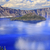 crater lake reflection wizard island clouds blue sky oregon stock photo © billperry