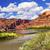 colorado river rock canyon reflection green grass outside arches stock photo © billperry