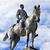 általános · lovas · szobor · polgárháború · Pennsylvania · Washington · DC - stock fotó © billperry