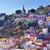 many colored houses el pipila statue guanajuato mexico stock photo © billperry