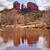 cathédrale · Rock · réflexion · distance · piscine · eau - photo stock © billperry