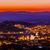 Mexico · zonsondergang · witte · kerk · huizen · landschap - stockfoto © billperry