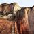 templo · vermelho · rocha · parede · desfiladeiro · parque - foto stock © billperry