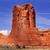 rocha · formação · desfiladeiro · parque · vermelho · laranja - foto stock © billperry