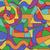 patroon · kleurrijk · pleinen · witte · olieverf - stockfoto © binkski