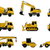 construction machines icons stock photo © biv