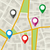 város · térkép · minta · végtelen · minta · egyszerű · illusztráció - stock fotó © biv