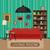 fotolijstje · kroonluchter · antieke · vector · meubels · zwarte - stockfoto © biv