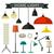home light icons set stock photo © biv