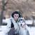 genç · kız · boğuk · köpek · kar · kış · kız - stok fotoğraf © blanaru