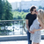 çift · öpüşme · eğlence · gülme - stok fotoğraf © blanaru