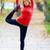 happy young woman exercising yoga stock photo © blasbike